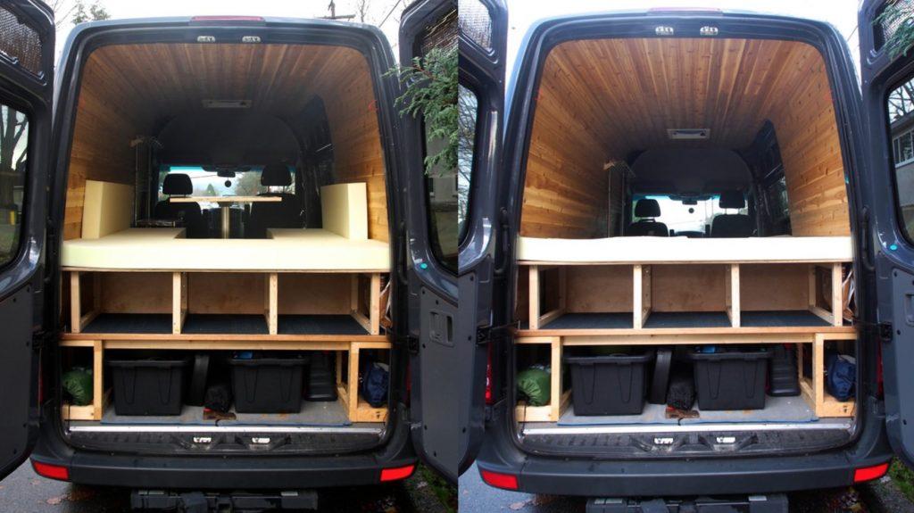 Cama comedor furgoneta camper