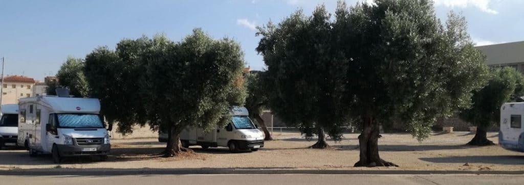Área de autocaravanas de Cretas