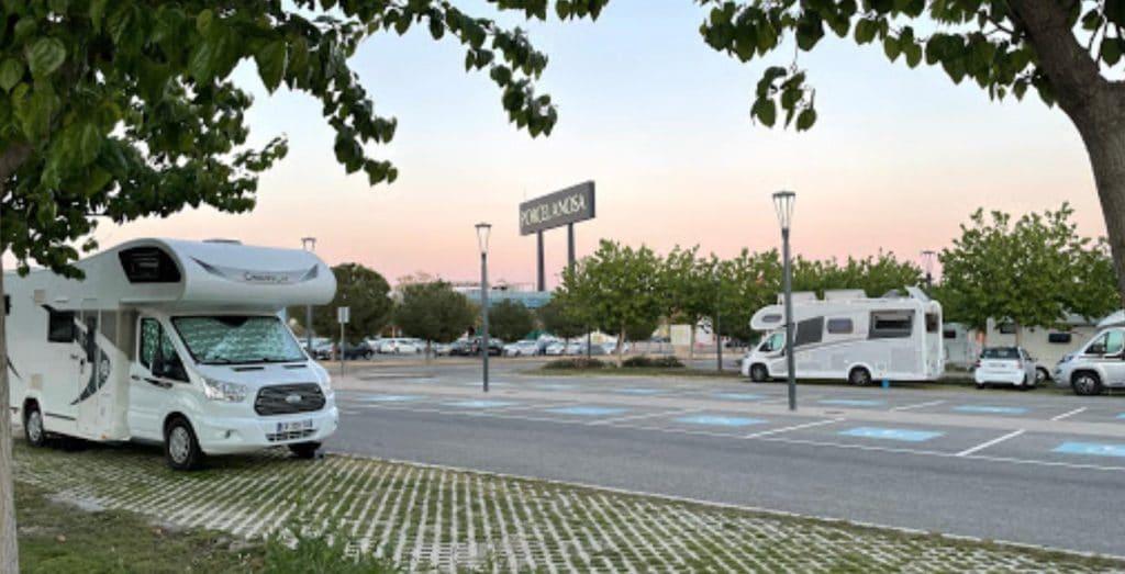 Área de autocaravanas de Murcia