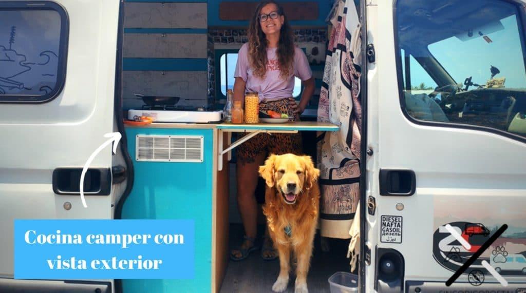 Cocina furgoneta camper