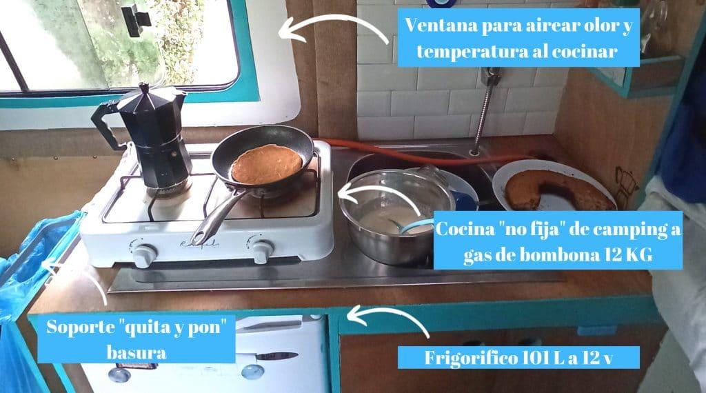 Cocina para furgoneta camper